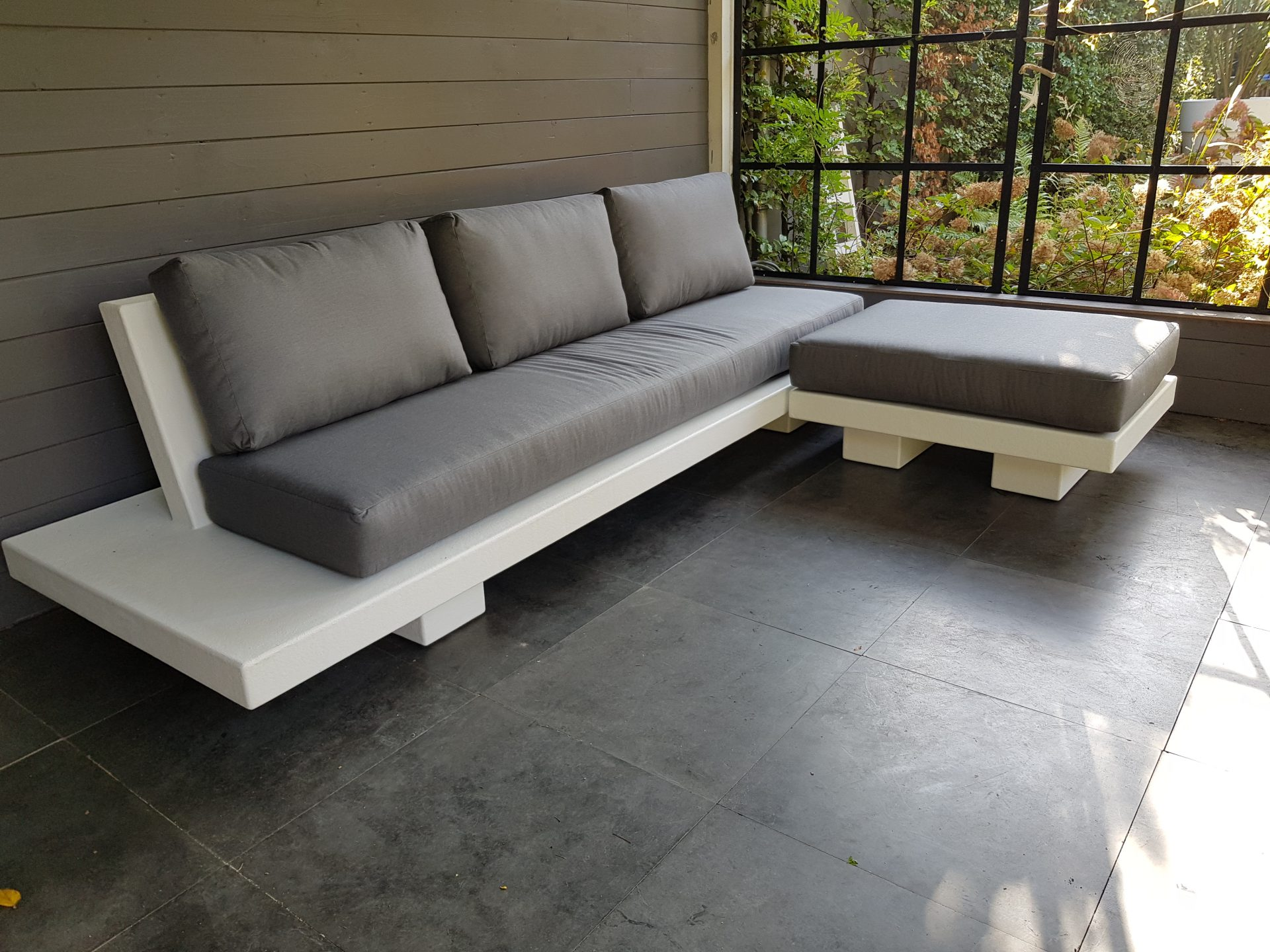 Betonlook loungeset - Base XLight - Wit