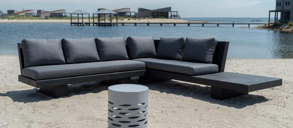 Betonlook loungeset - Base XLight - Zwart
