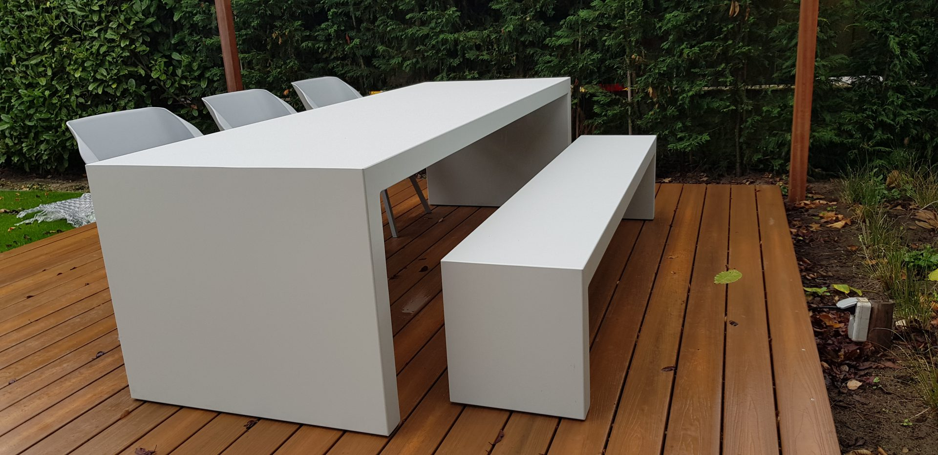 Aluminium tafel en bank - Allure - Box