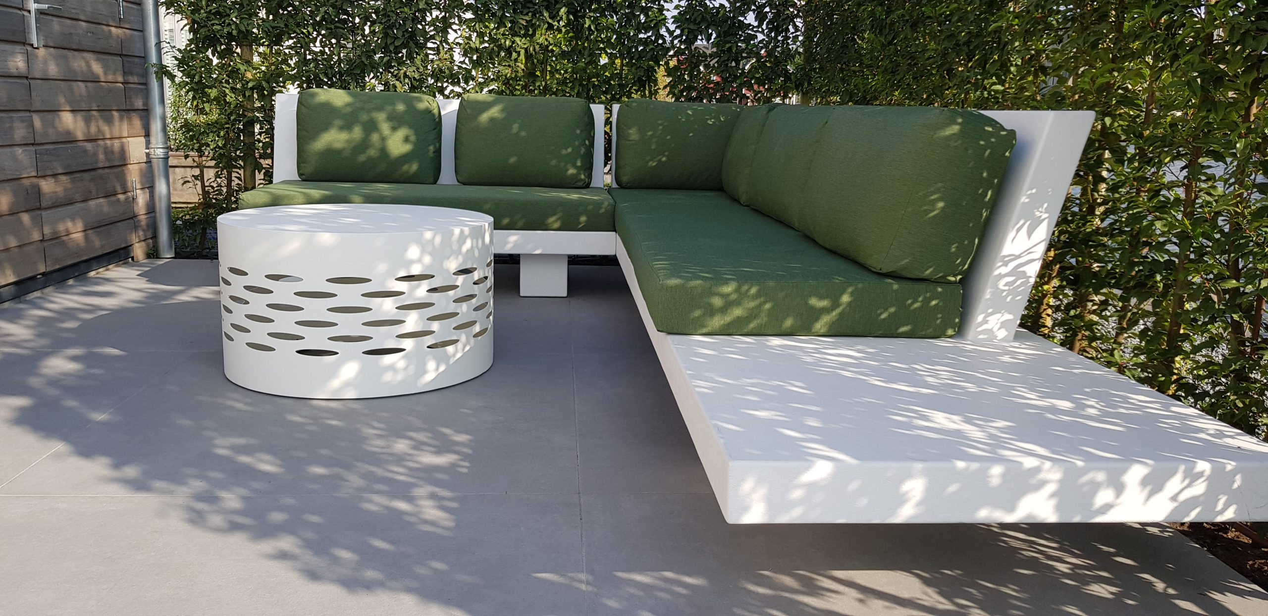 Betonlook loungeset - Base XL - Wit