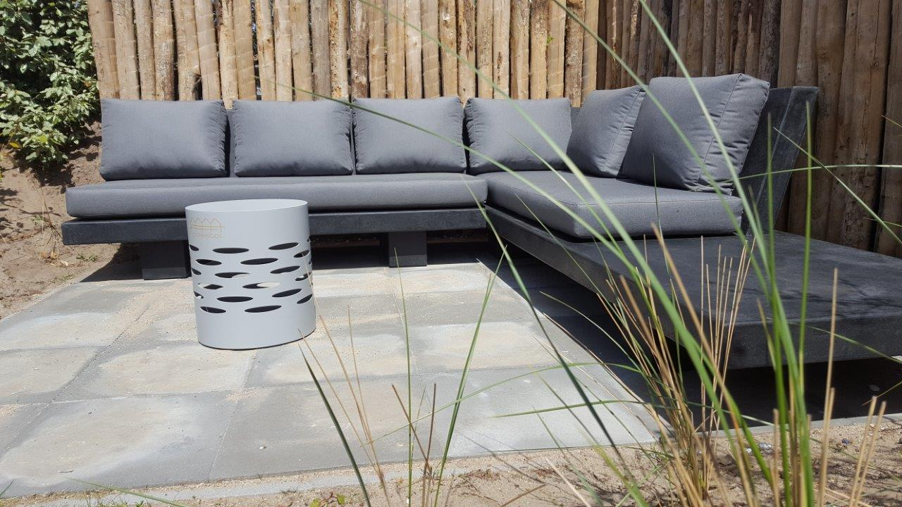Loungeset - Betonlook - Base XLight - Zwart