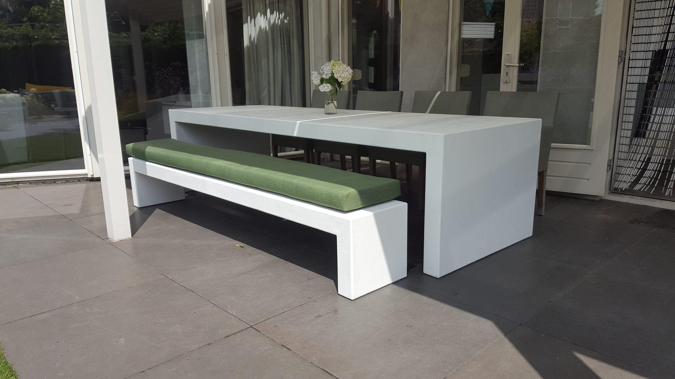 betonlook tafel booster - wit