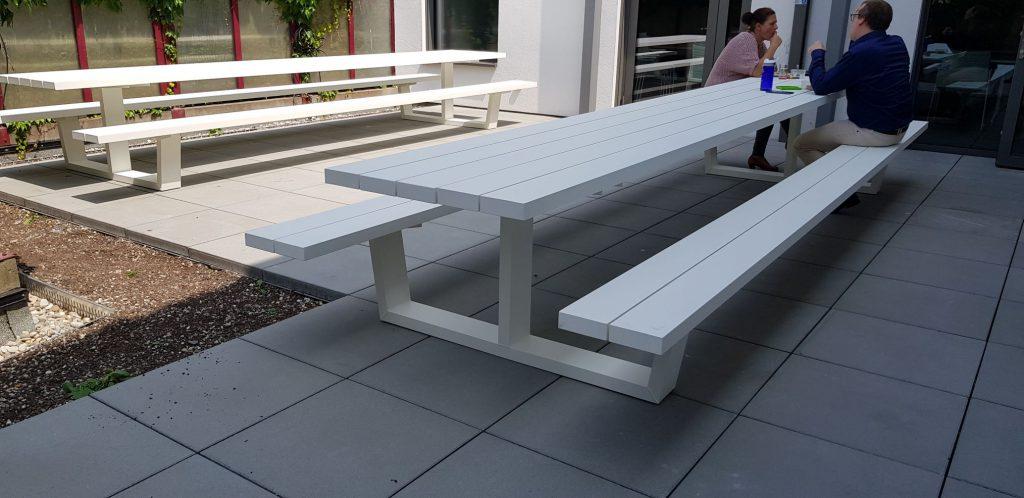 Aluminium picknicktafel zakelijk bestellen