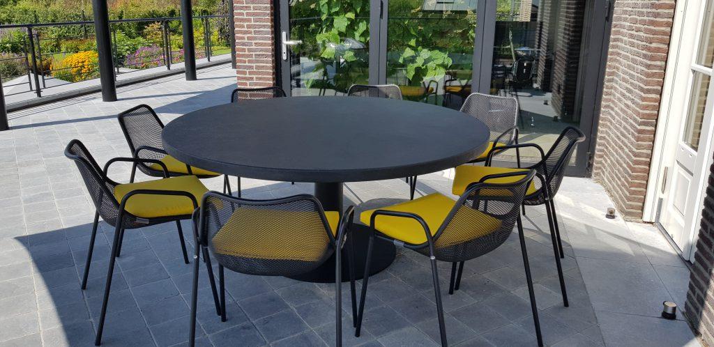 Betonlook tafel - Base rond - 175